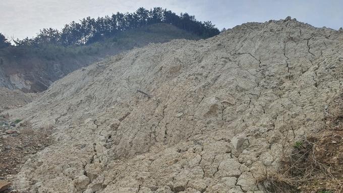 영덕와이앤피채석장 물모래 반출